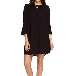 Jack by BB Dakota XS Black Shift Dress Bell Sleeve